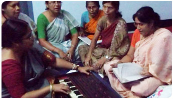 Vocal music classes at Nari Seva Sangha